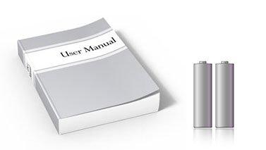 Batteries and user manual