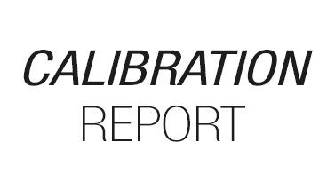 Calibration report