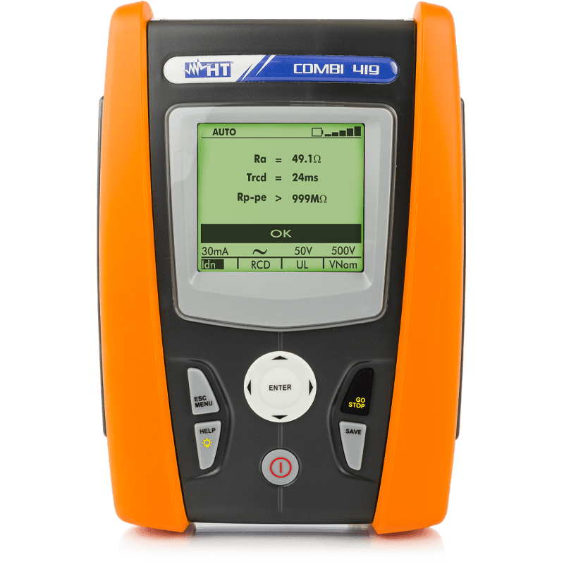 Multifunction Installation tester for electrical safety tests on domestic and industrial systems
