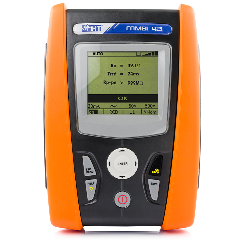 Multifunction installation tester for measurements on domestic and industrial installations and for power quality analysis