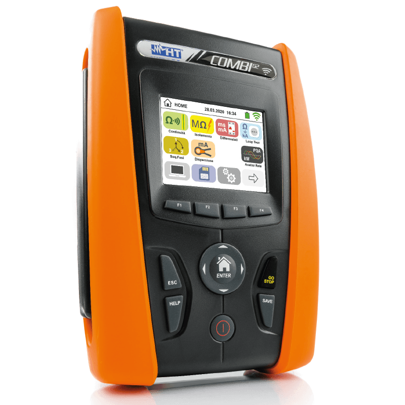 Multifunction installation tester with colour touchscreen display and WiFi compatible with HTANALYSIS™