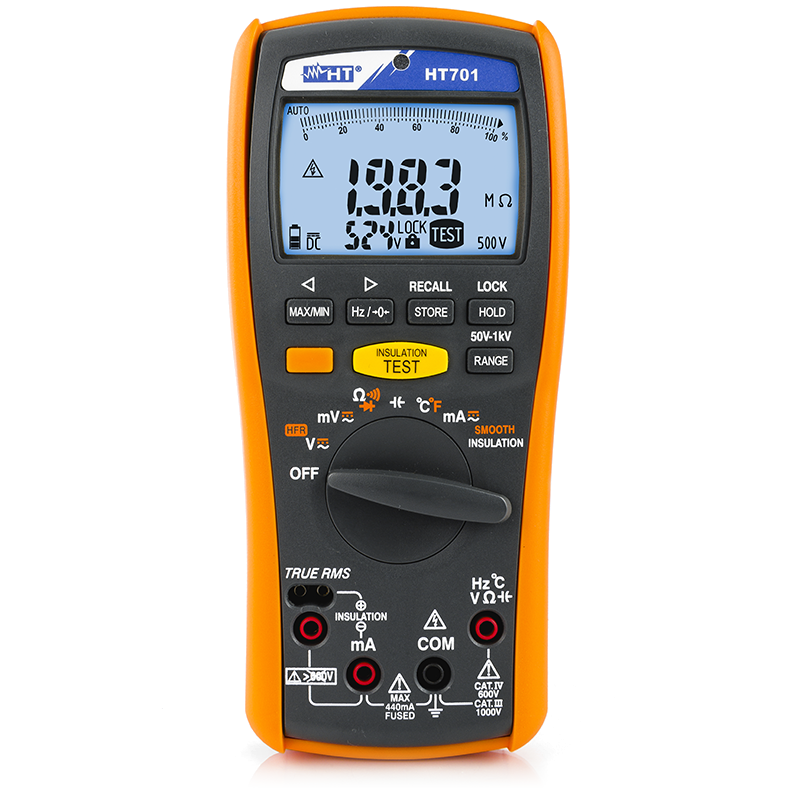 Professional multimeter with insulation measurement up to 1000V