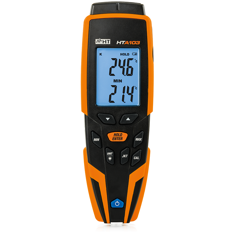 HTA103 Thermometer for measuring temperature with K/J-type probe